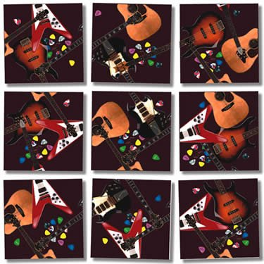Guitars Scramble Squares